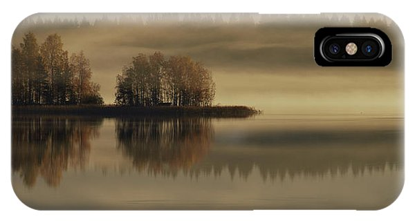 Fog Mist iPhone Case - Early Autumn Morning by Pekka Ilari T