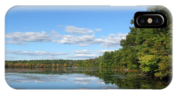 Early Autumn Scituate Reservoir IPhone Case