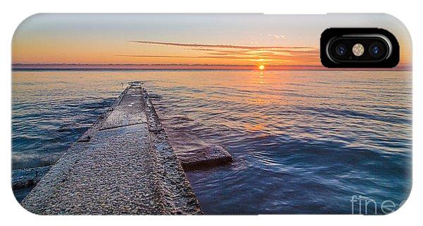 Early Breakwater Sunrise IPhone Case