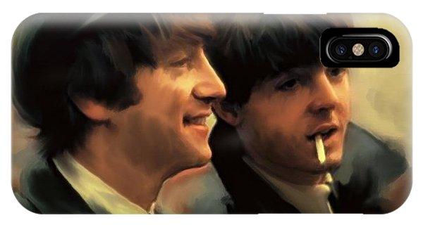 Early Days II John Lennon And Paul Mccartney IPhone Case