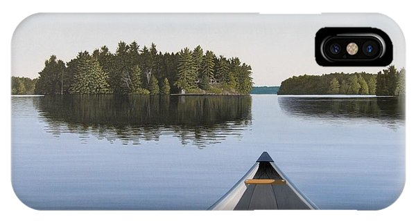 Dusk iPhone Case - Early Evening Paddle Aka Paddle Muskoka by Kenneth M Kirsch