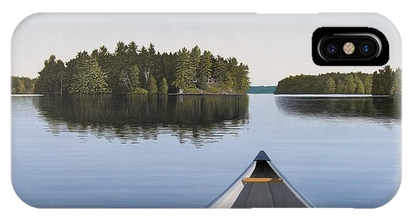 Lake iPhone Case - Early Evening Paddle Aka Paddle Muskoka by Kenneth M  Kirsch