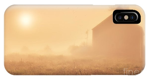 Etna iPhone Case - Early Foggy Morning On The Farm by Edward Fielding