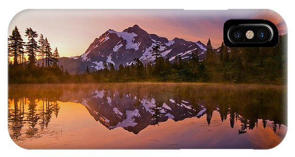 Sunrise iPhone Case - Early Morning At Picture Lake by Darren  White