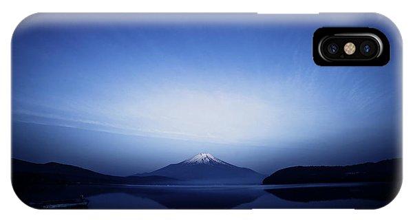 Snowy iPhone Case - Early Morning Blue Symbol by Takashi Suzuki