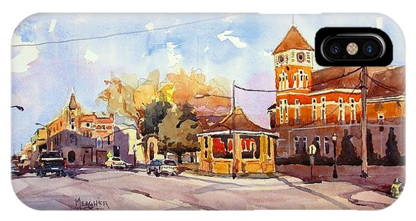 Courthouse iPhone Case - Early Morning Downtown Fairfield by Spencer Meagher