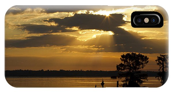 Early Morning Light At Lake Deutrive Phone Case by Kelly Morvant