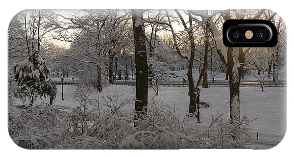 Early Morning Sun In Central Park.  IPhone Case