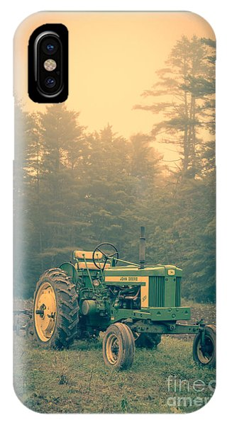 Early Morning Tractor In Farm Field IPhone Case