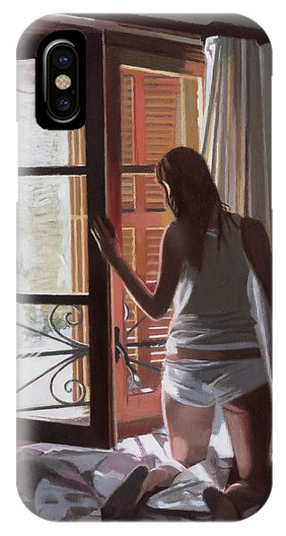 Awakening iPhone Case - Early Morning Villa Mallorca by Gillian Furlong