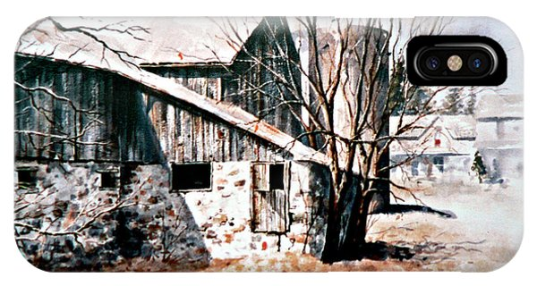 New England Barn iPhone Case - Early Spring by Hanne Lore Koehler