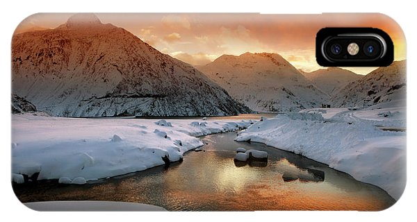 Pond iPhone Case - Early Winter Mood by Nicolas Schumacher