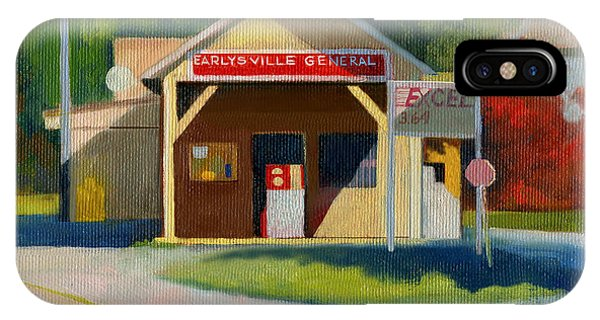Earlysville Virginia Old Service Station Nostalgia IPhone Case