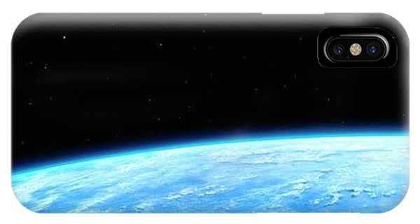 Earth Orbit iPhone Case - Earth And Moon by Chris Butler