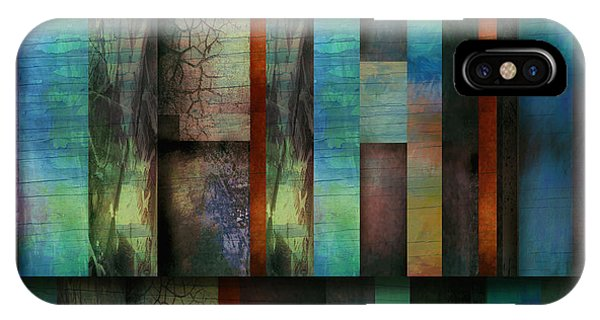 Earth And Sky  Abstract Art  Phone Case by Ann Powell