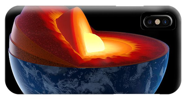 Planets iPhone Case - Earth Core Structure - Isolated by Johan Swanepoel