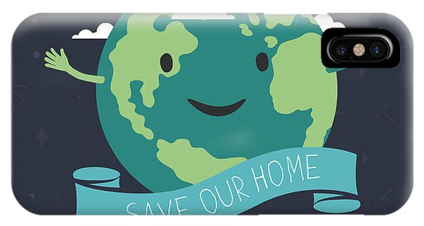 Planet iPhone Case - Earth Day, 22 April. Save Our Home by Pashabo