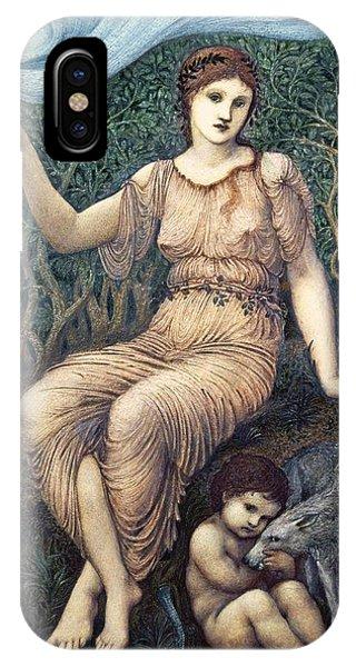 Pre-modern iPhone Case - Earth Mother, 1882 Gesso by Sir Edward Coley Burne-Jones