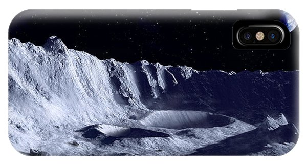 Earth Over Moon Phone Case by Mark Garlick/science Photo Library