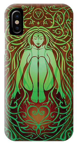 Tribal iPhone Case - Earth Spirit V.2 by Cristina McAllister