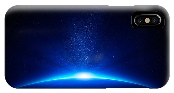 Background iPhone Case - Earth Sunrise In Space by Johan Swanepoel