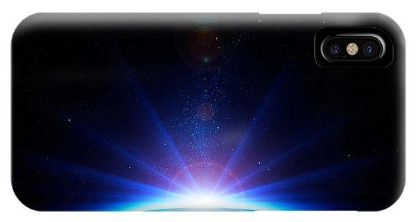 Dark Blue iPhone Case - Earth Sunrise by Johan Swanepoel