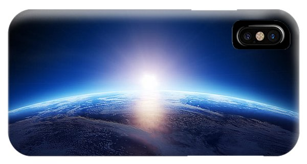 Astro iPhone Case - Earth Sunrise Over Cloudy Ocean  by Johan Swanepoel