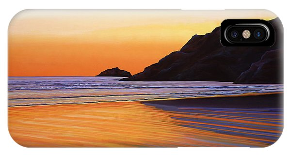 Orange Sunset iPhone Case - Earth Sunrise Sea by Paul Meijering