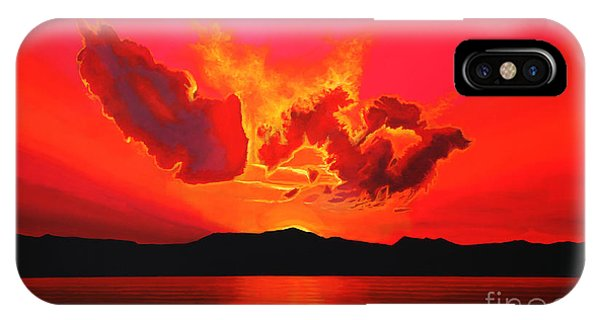 Orange Sunset iPhone Case - Earth Sunset by Paul Meijering