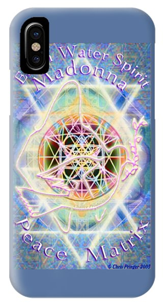 Earth Water Spirit Madonna Peace Matrix IPhone Case