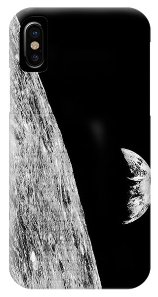 Earth Orbit iPhone Case - Earthrise From Lunar Orbiter 1 by Nasa/loirp/science Photo Library