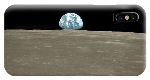 Earthrise Over Moon IPhone Case