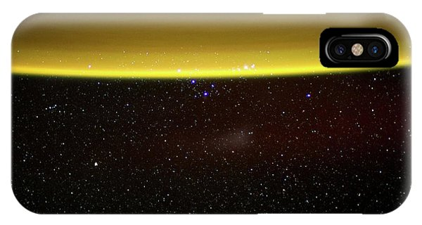 International Space Station iPhone Case - Earth's Atmosphere by Nasa/science Photo Library