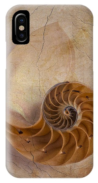 Earthy iPhone Case - Earthy Nautilus Shell  by Garry Gay