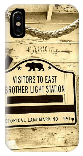 East Brother Light Station Visitor Sign IPhone Case