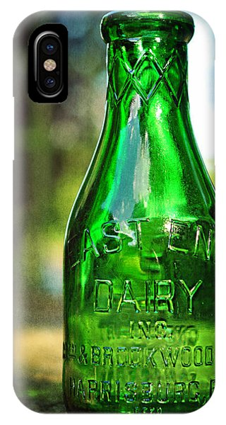 East End Dairy Green Milk Bottle IPhone Case
