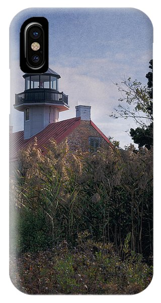 Navigation iPhone Case - East Point Lighthouse by Joan Carroll