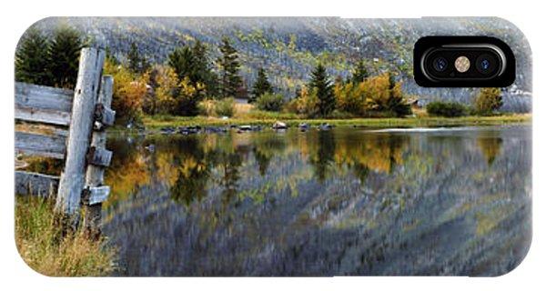 East Rosebud Lake Fall Panorama IPhone Case