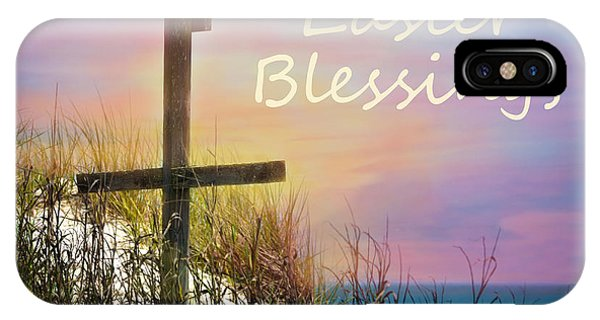 Easter Blessings Cross IPhone Case