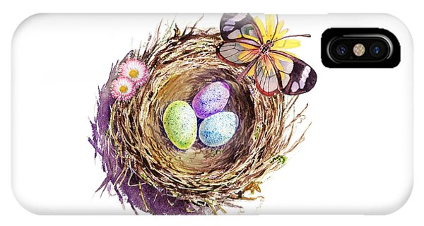 Easter Colors Bird Nest IPhone Case