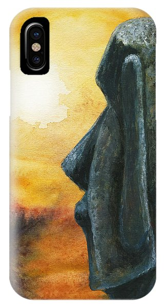 Easter  Island  Enigma IPhone Case