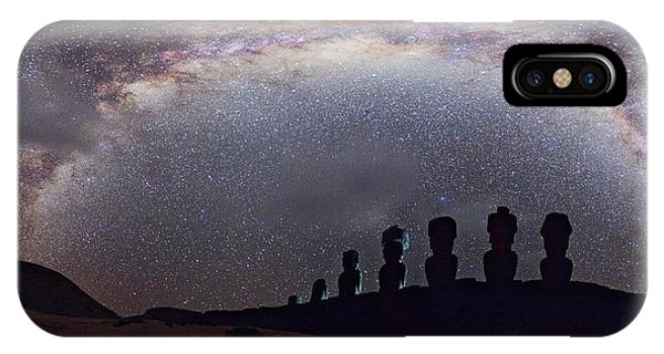 Easter Island Moai And Milky Way IPhone Case