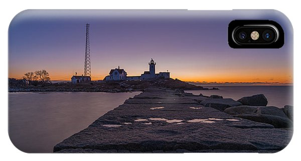 Eastern Point Lighthouse Just Before Sunrise Gloucester Ma IPhone Case