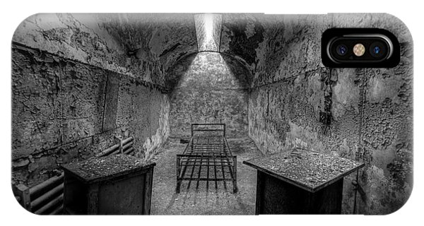 Nikon iPhone Case - Eastern State Penitentiary Bw by Michael Ver Sprill