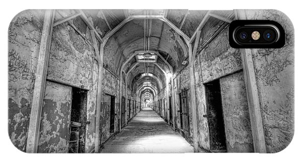Nikon iPhone Case - Eastern State Penitentiary Hallway Bw by Michael Ver Sprill