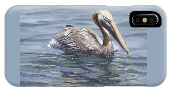 Pelican iPhone Case - Easy Morning by Lucie Bilodeau