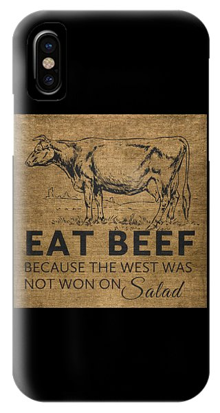 Eat Beef IPhone Case