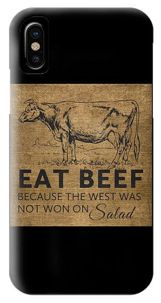 University iPhone Case - Eat Beef by Nancy Ingersoll