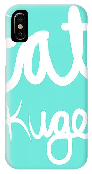 Food iPhone Case - Eat Kugel - Blue And White by Linda Woods