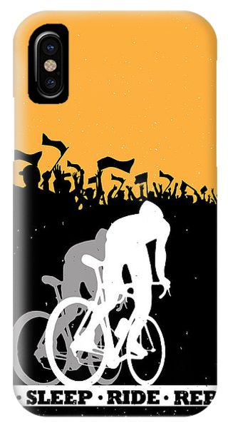 Repeat iPhone Case - Eat Sleep Ride Repeat by Sassan Filsoof